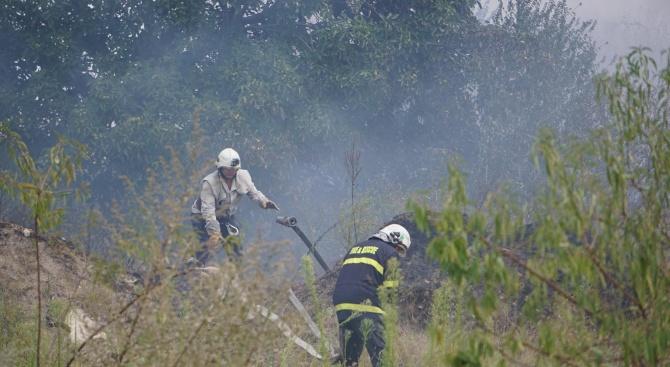 Продължава борбата за пълното ликвидиране на големия пожар, които избухна
