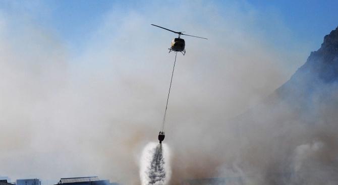 Армейски хеликоптер ще участва в гасенето на пожара край Котел.