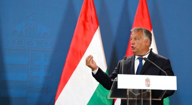Унгарският премиер Виктор Орбан каза днес, че западните държави в