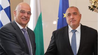 Борисов се срещна с министъра на външните работи на Гърция Николаос Дендиас