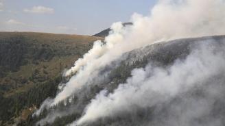 Военнослужещи от Сухопътните войски и Военновъздушните сили участваха в гасенето на пожари в Рила