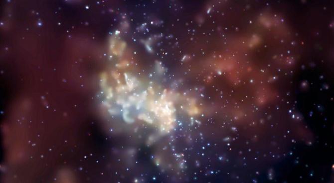 Свръхмасивна черна дупка яде сърцето на Млечния път