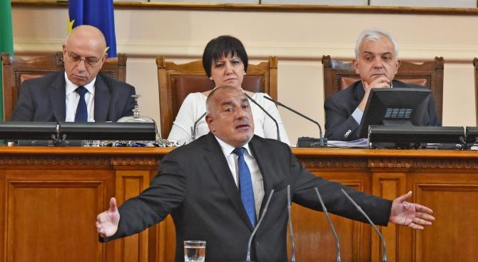 Премиерът Бойко Борисов ще участва утре в парламентарния контрол след