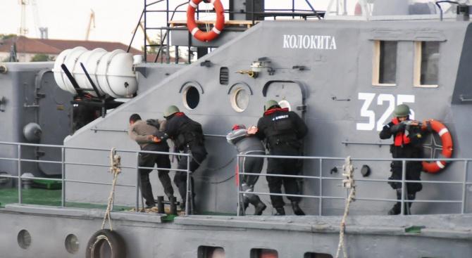 Група за бординг операции от флотилия Бойни спомагателни кораби направи