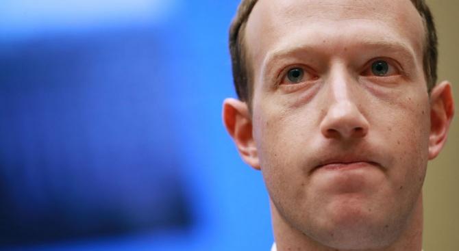 """Главният изпълнителен директор на """"Фейсбук"""" Марк Зукърбърг е имал вчера"""