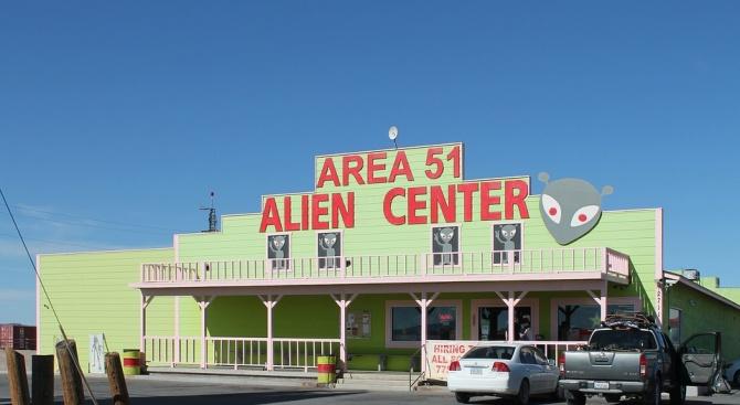"""Любители на темата извънземни се събират край """"Зона 51"""""""