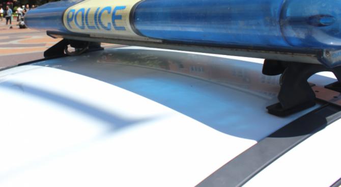 Полицейски служители на Районно управление на МВР-Петрич работят по получен