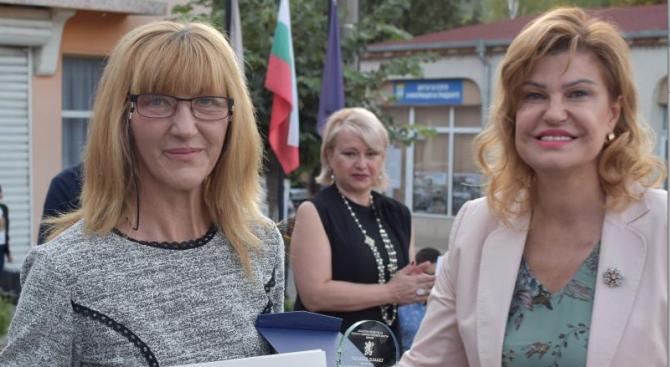 Областният управител на Перник Ирена Соколова на тържествата по случай 45 години от създаването на град Земен