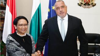 Борисов се срещна с министъра на външните работи на Индонезия Рътно Марсуди