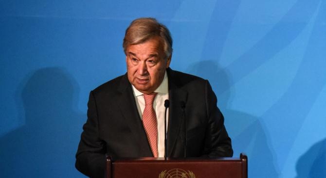 Генералният секретар на ООН Антониу Гутериш заяви на лидерите на
