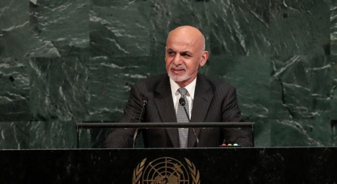 Президентът на Афганистан Ашраф Гани призова днес представителите на движението