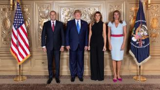 Румен Радев и Десислава Радева се срещнаха с Тръмп и съпругата му