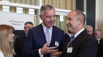 Президентите Радев и Джуканович обсъдиха перспективите за насърчаване на икономическия обмен между България и Черна гора