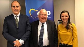 Цветанов се срещна с Жозеф Дол и му представи Евро-атлантическия център за сигурност