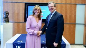 Екатерина Захариева проведе среща с Дейвид Харис, изпълнителен директор на Американския еврейски комитет