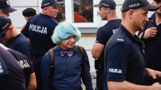 Полицията защити гей парад в полския град Люблин от негови противници