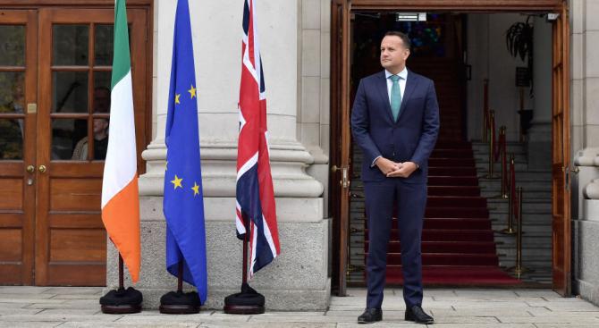 Ирландският министър-председател Лио Варадкар каза днес, че ако Великобритания поиска