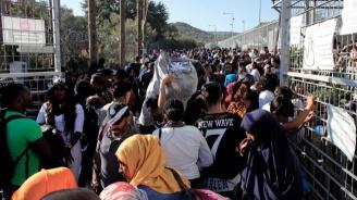 Бежанци протестират на гръцкия остров Лесбос