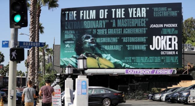 """Филмът """"Жокера"""" на режисьора Тод Филипс постави рекорд по приходи"""
