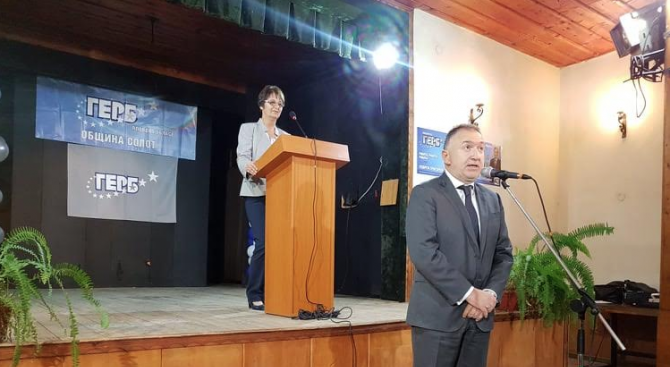 Кандидатът на ГЕРБ за кмет на община Сопот Георги Григоров,