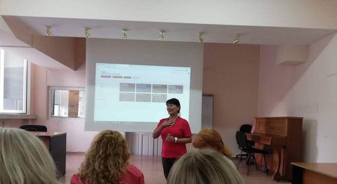 Езиковата гимназия в Ловеч представи в Бургас новаторски подходи към учебното съдържание