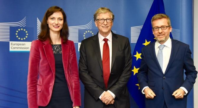 Комисарят за цифровата икономика и общество Мария Габриел се срещна