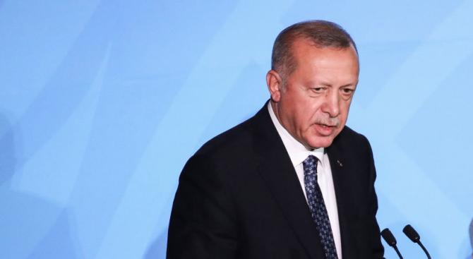Турският президент Реджеп Ердоган заяви, че Анкара има право да