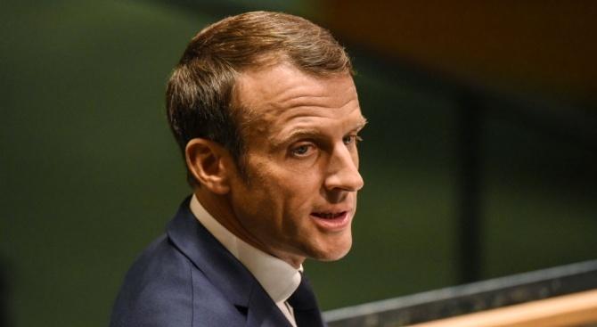 Френският президент Еманюел Макрон призова Турция да прекрати възможно най-скоро