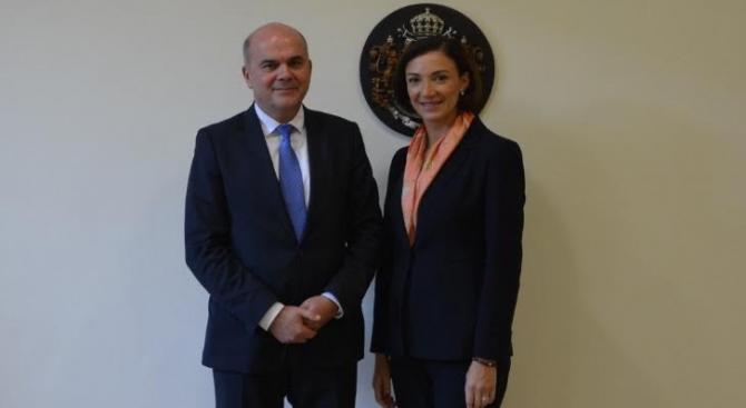 Министърът на труда и социалната политика Бисер Петков и грузинския