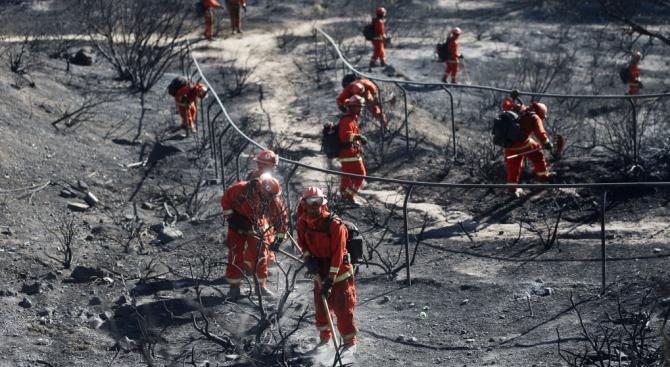 Огнеборците в Калифорния са започнали да овладяват двата горски пожара