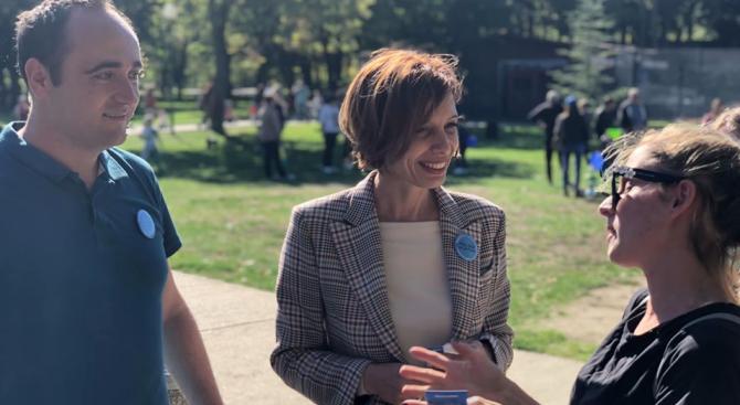 Кандидатът за кмет на Добрич от ГЕРБ (СДС) Надежда Петкова