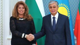 Илияна Йотова се срещна с казахстанския президент