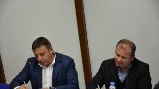 Кандидатът за кмет на Благоевград д-р Атанас Камбитов и водачът на листата на местната коалиция ЕНП Радослав Тасков подписаха съвместна декларация за сътрудничество