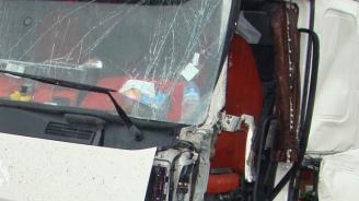 """Катастрофа на АМ """"Тракия"""" край Раднево с пиян шофьор"""
