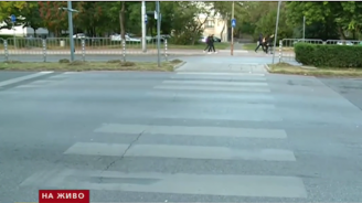 Джип блъсна дете на пешеходна пътека в Пловдив, родители излязоха на протест