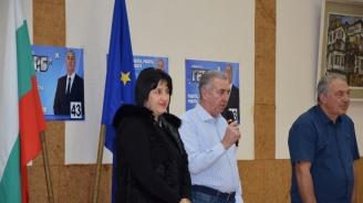 Кандидатът за кмет на община Видин от ГЕРБ Огнян Ценков разговаря с директори на видински училища