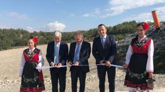 Нено Димов откри Четвърта клетка на регионалното депо за отпадъци на Петрич