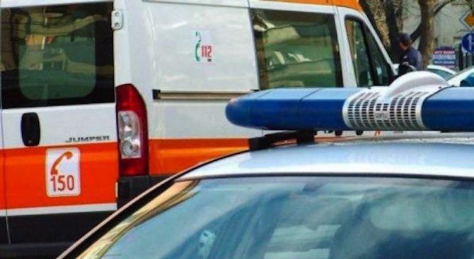 """Тежка катастрофа между лек автомобил """"Фиат"""" и мотопед с италиански"""