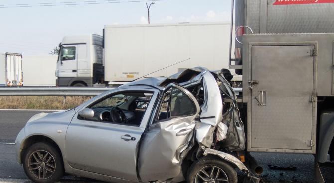 Пътник в товарен автомобил е пострадал с фрактура на ребро