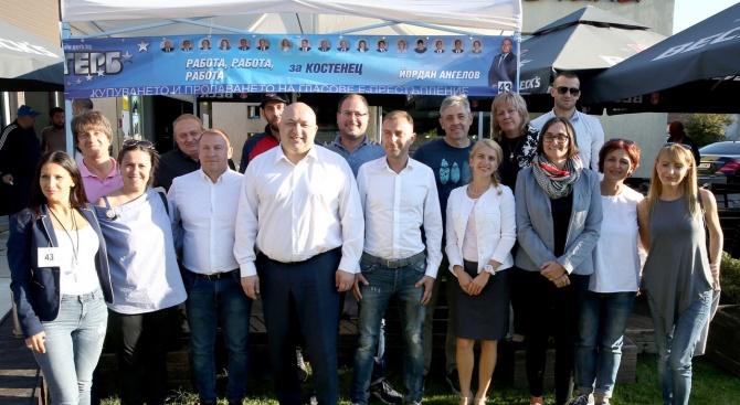 Министърът на младежта и спорта Красен Кралев посети община Костенец,