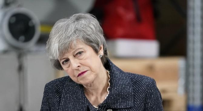 Бившата британска министър-председателка Тереза Мей, чиято сделка за Брекзит беше