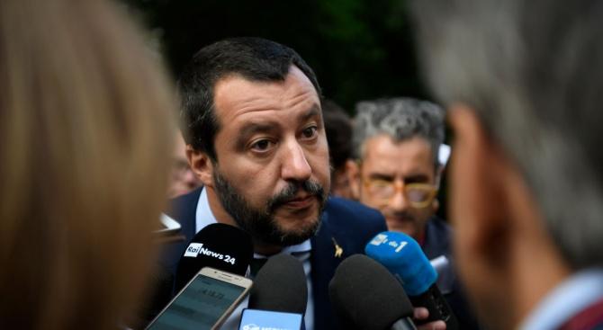 Лидерът на италианската крайна десница Матео Салвини оглави днес голям
