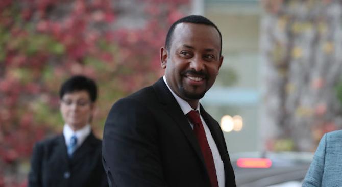 Етиопският министър-председател Абий Ахмед, който спечели Нобеловата награда за мир,