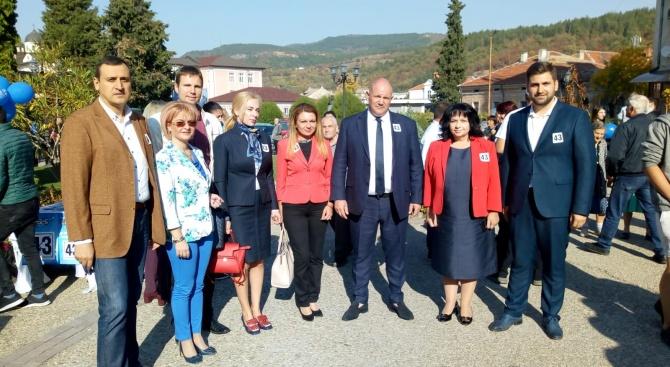 ГЕРБ и кандидатът за кмет на Белово Васил Савов представиха
