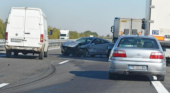 Около 16.25 часа е получен сигнал за тежък пътен инцидент