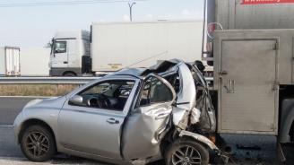 Катастрофа между кола и ТИР в Русе