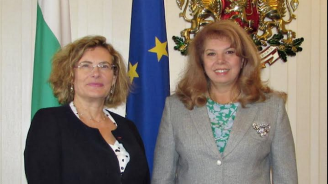 Илияна Йотова обсъди двустранните ни отношения с новия френски посланик в България