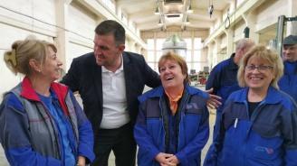 Кандидатът на ГЕРБ за кмет на Хасково Станислав Дечев посети най-голямата машиностроителна фирма в града