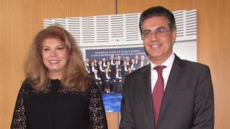 Новите заплахи пред човешките права обсъди вицепрезидентът Йотова с председателя на Европейския съд по правата на човека