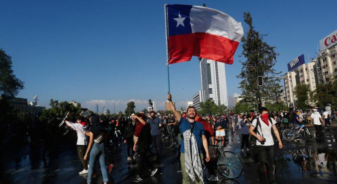 В столицата на Чили Сантяго отново се събират демонстранти след